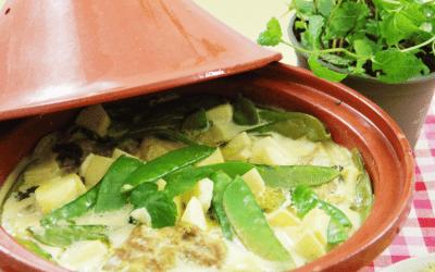 Recept: Tajine met kip en peultjes