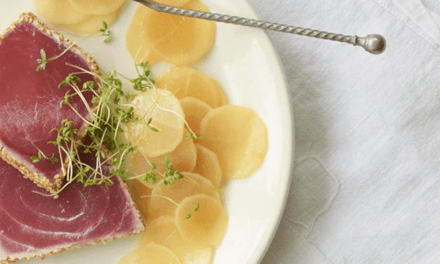 Recept: Rammenas carpaccio met verse tonijnfilet