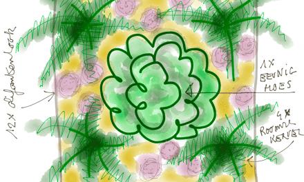 Moestuinplannen van Peter Bauwens: Tuin 1